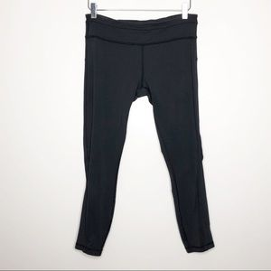 Lululemon | Women's Black Cropped Leggings Size 8